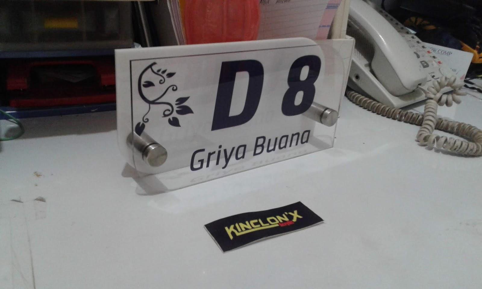 NOMOR MEJA ~ PT. KINCLONX ACRYLIC INDONESIA.
