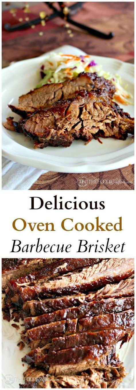 Delicious Oven Cooked Barbecue Brisket - Beef Recipes