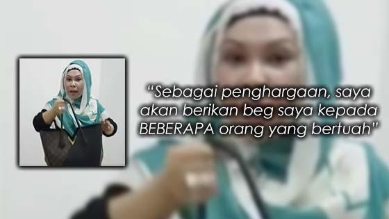 Datuk Seri Vida Mahu Berikan Beg Miliknya Kepada Peminat