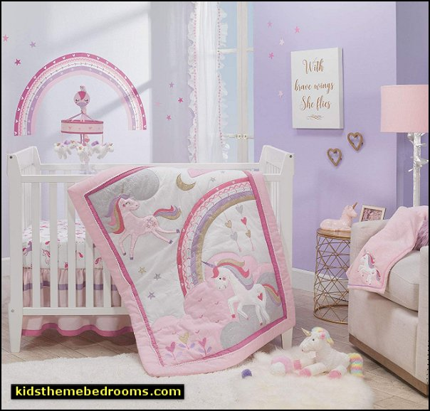 unicorn Crib bedding unicorn nursery decor unicorn baby bedroom decorating unicorns