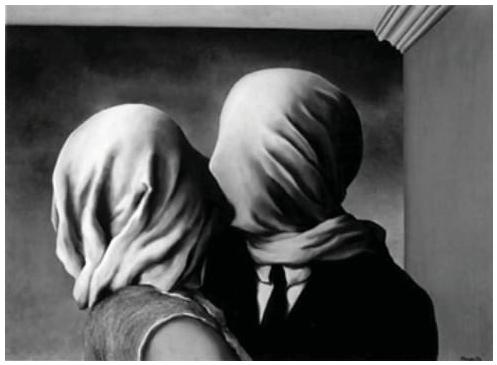 Los amantes, de Magritte