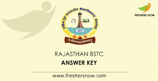 Rajasthan BSTC Answer Key, Download BSTC Official Answer Key here, 31 August 2021 Answer Key, Question Paper solution