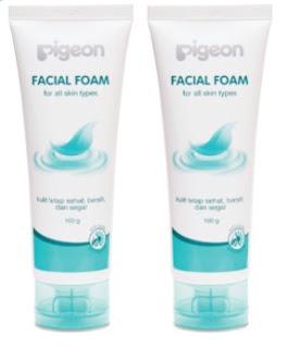 Review Pigeon Facial Foam Untuk Kulit Kering dan Kusam