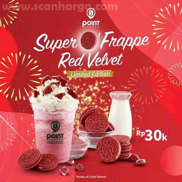 Point Coffee Harga Spesial Super O' Prappe Red Velvet hanya Rp. 30K