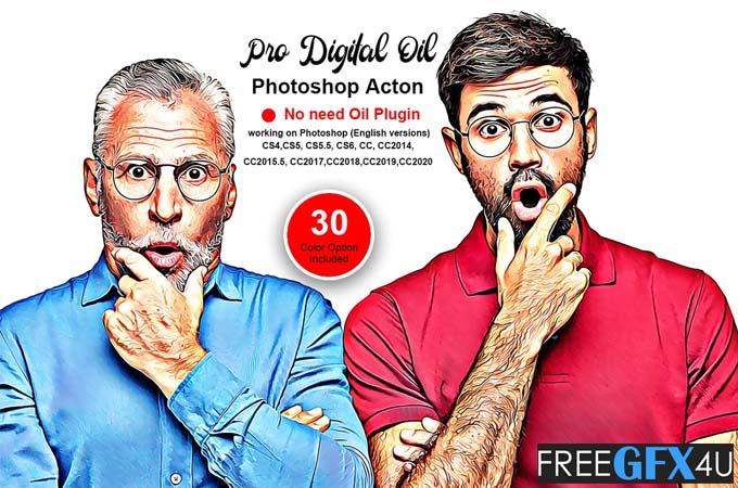 Pro Digital Oil Photoshop Action