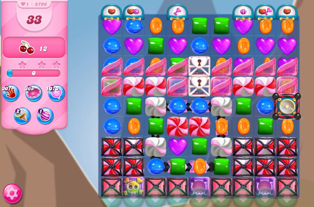 Candy Crush Saga level 8796