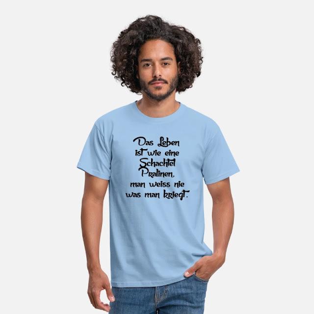 Männer T-Shirt Das Leben ist wie eine Schachtel Pralinen