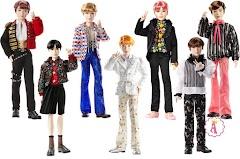 Коллекционные куклы певцы BTS Prestige Doll с шарнирным телом и эксклюзивным костюмом