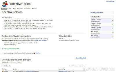 Install Kdenlive via PPA Repository