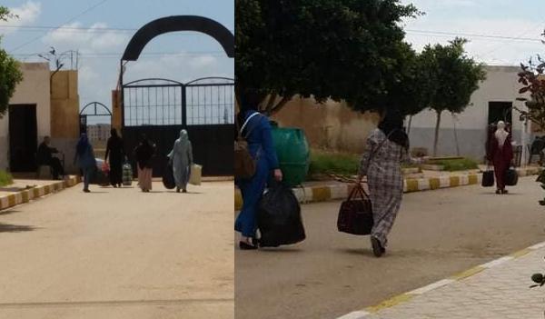 الطالبات يسترجعن أغراضهن من الإقامات الجامعية بالشلف