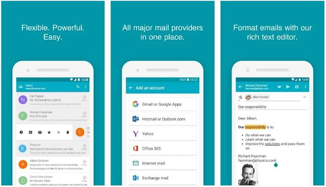 5 Aplikasi Email Terbaik, Aman dan Terpercaya Untuk Smartphone Android Anda