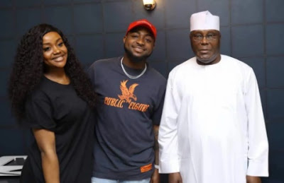 Davido Thank PDP Presidential Candidate, Atiku For Making Him His Favourite Musician