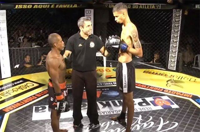 """6'6"""" featherweight vs 5'4"""" opponent"""