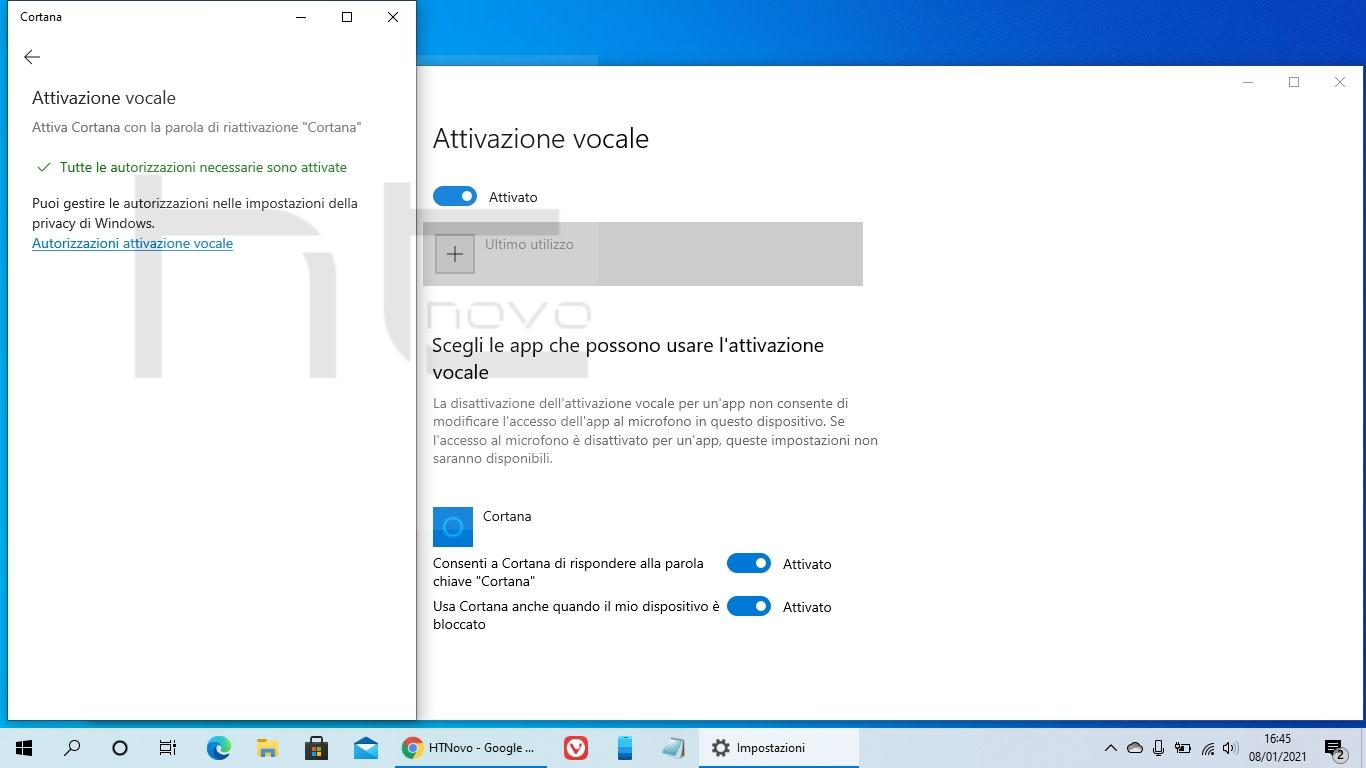 Cortana ottiene nuovamente l'Attivazione vocale in Windows 10