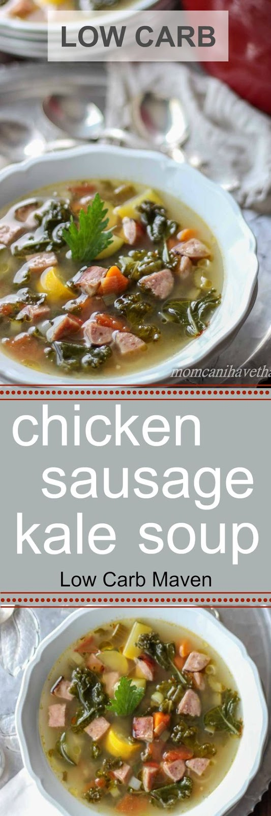 LOW CARB CHICKEN SAUSAGE AND KALE SOUP PALEO