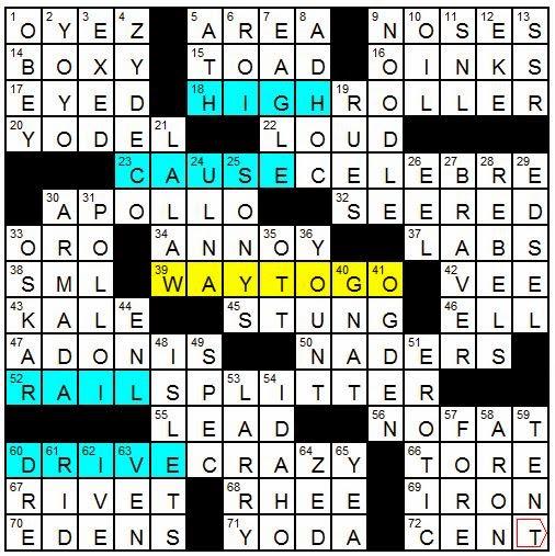 Latimes crossword corner tuesday february 17 2015 gail argyle malvernweather Gallery