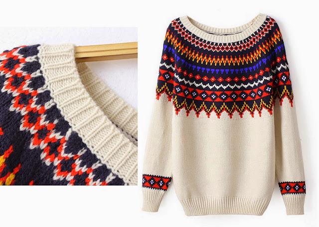 свитер ярким с принтом
