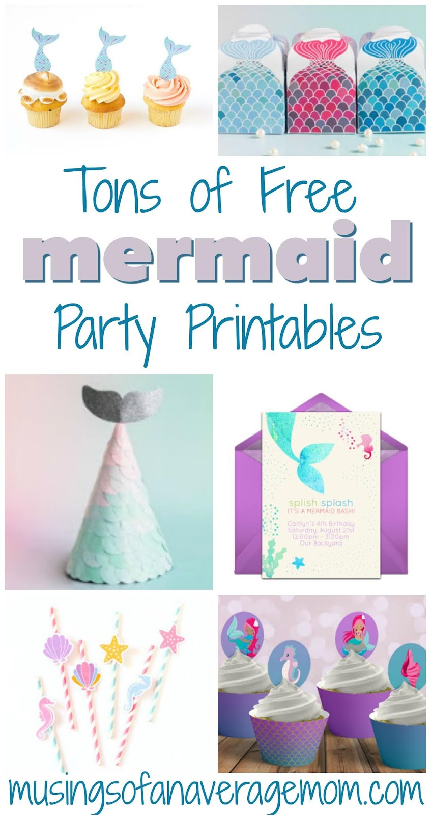 photograph relating to Mermaid Birthday Invitations Free Printable named Musings of an Common Mother: Mermaid Bash Printables