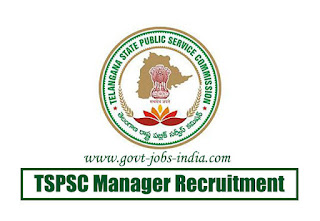 TSPSC Manager Recruitment 2020