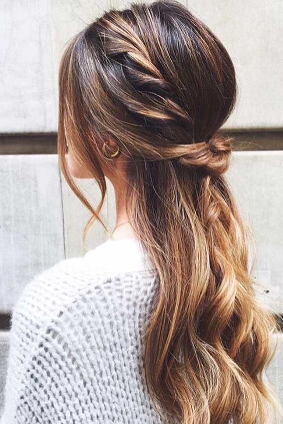 Stunning Half-Up Half-Down Hairdo