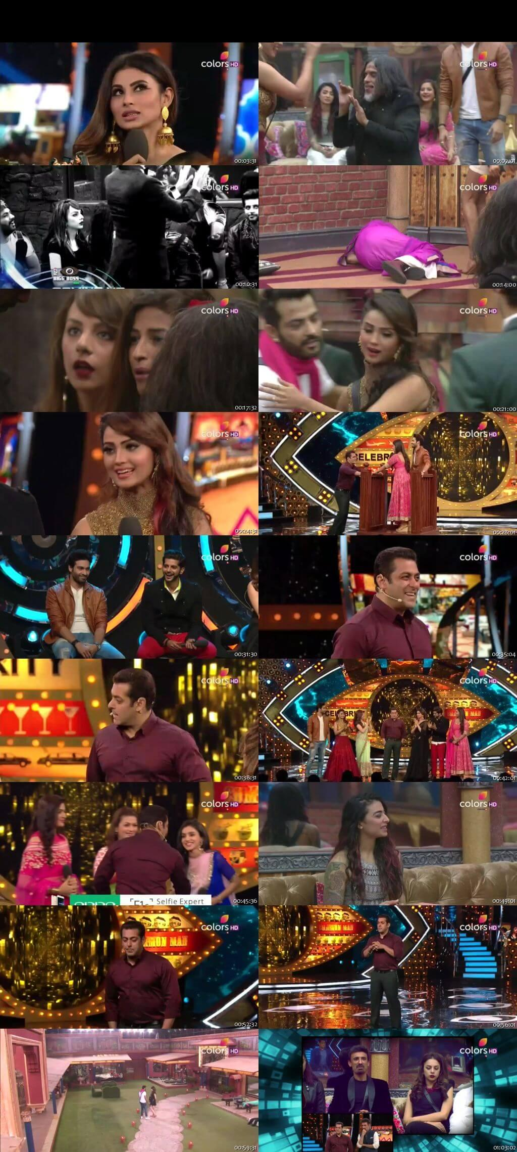 Screenshots Of Hindi Show Bigg Boss 10 18th December 2016 Episode 64 300MB 480P HD
