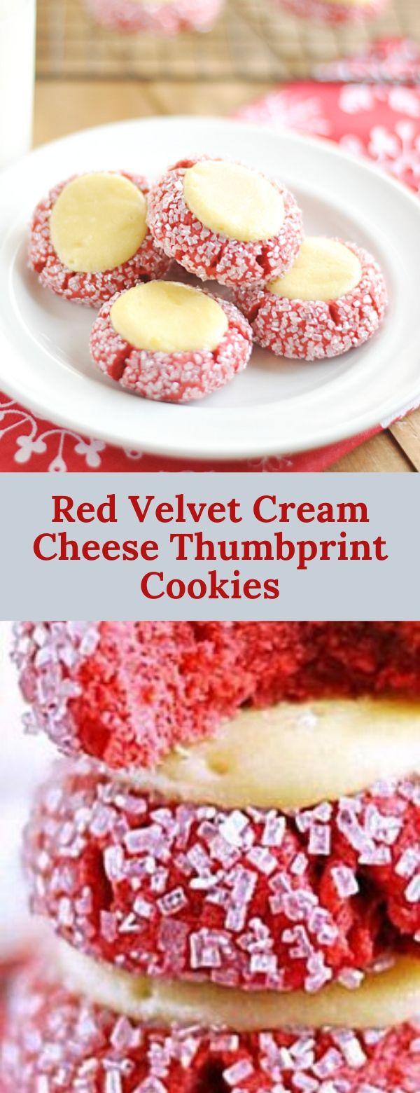 Red Velvet Cream Cheese Thumbprint Cookies
