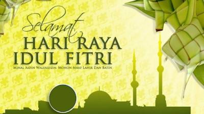 Desain Kartu Ucapan Idul Fitri yang unik