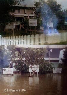 Putussibau, banjir, 1990