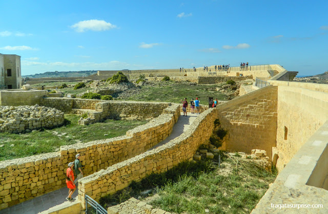 Muralhas da Cittadella, na Ilha de Gozo