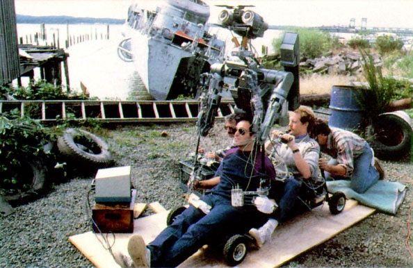 Fotografías de la película Cortocircuito detrás de las cámaras
