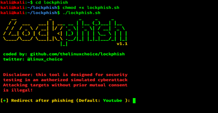 Lockphish : The First Tool For Phishing Attacks