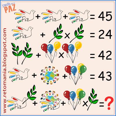 Desafíos matemáticos, Retos matemáticos, Problemas matemáticos, Retos mentales, Retos visuales, Problemas de matemáticas, Descubre el número, Descubre el Resultado, El número que falta