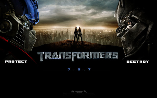 poster de la primera película de Transformers