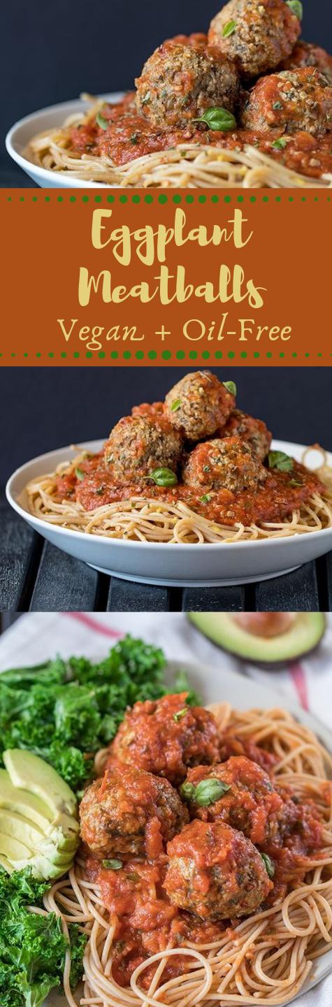 Vegan Eggplant Meatballs  #lowcarb #oil #vegetarian #vegan #Dinner