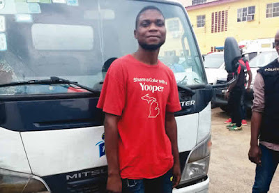 Driver steals N10m goods, arrested while praying for forgiveness