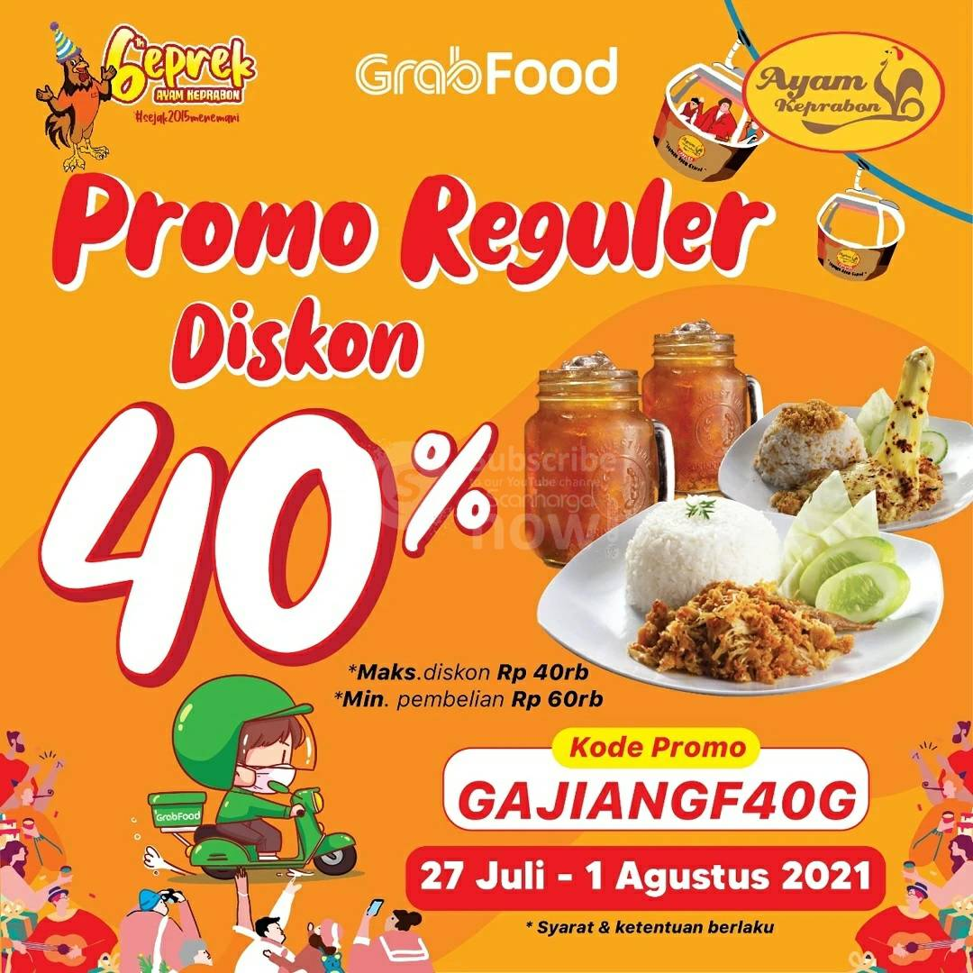 Ayam Keprabon Promo Reguler Diskon 40% via Grabfood