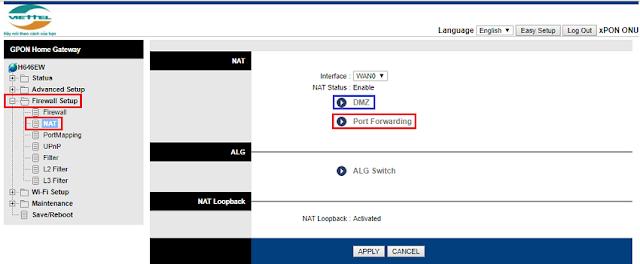 Hạn chế dùng DMZ để mở vì bảo mật không an toàn