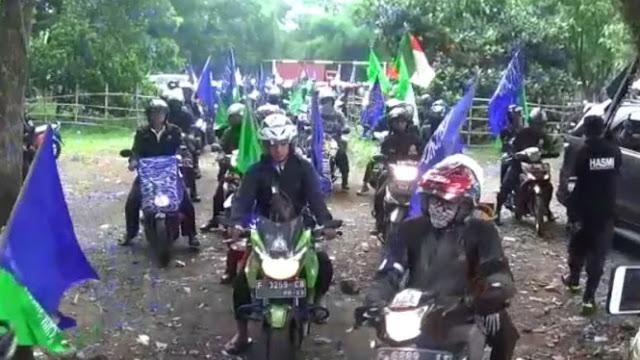 500 Motor Berbendera Tauhid dari Bogor Berangkat ke Jakarta