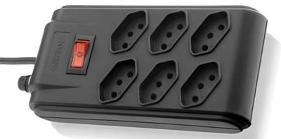 Filtro de linha Multilaser WI201 com 6 tomadas