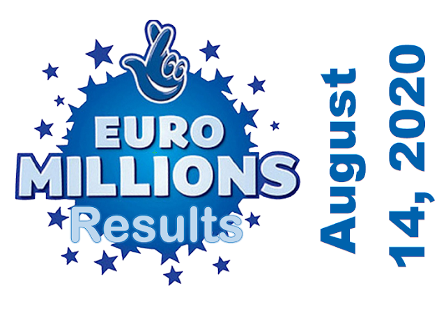 EuroMillions Results for Friday, August 14, 2020