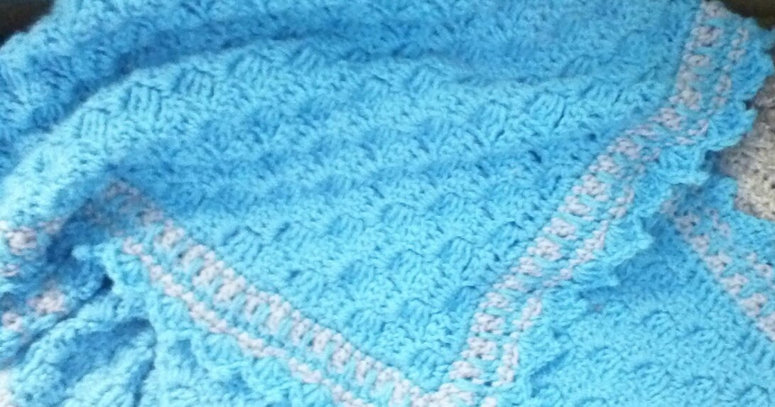 Kat S Crochet Creations C2c Baby Blanket With Shell Picot