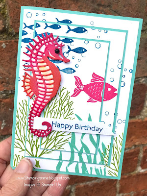 Under the sea card making idea with seascape stamps and dies