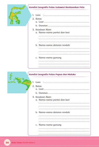 Nama Nama Gunung Di Pulau Papua Dan Maluku : gunung, pulau, papua, maluku, Pintar:, Kunci, Jawaban, Tematik, Kelas, Mengamati