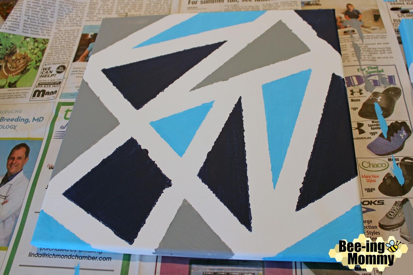 Geometric Wall Decor Using Painters Tape