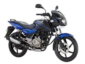 New Bajaj Pulsar 150 side view blue image