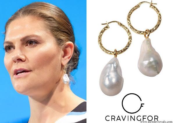 Crown Princess Victoria wore Cravingfor Jewellery Baroque Pearl Earrings