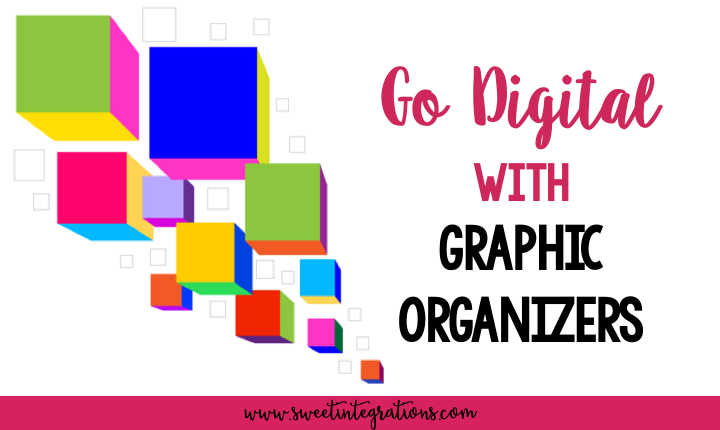 Title Page for Go Digital with Digital Graphic organizers with freebie