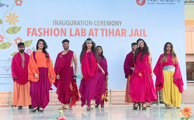 Fashion show by students of Pearl Academy at the inauguration ceremony of Fashion Laboratory at Tihar Jail