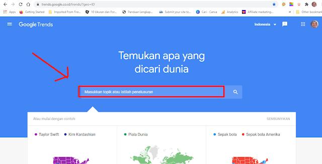 Halaman Google trends