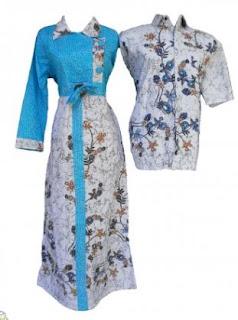 Model baju batik sarimbit kombinasi anak muda cantik
